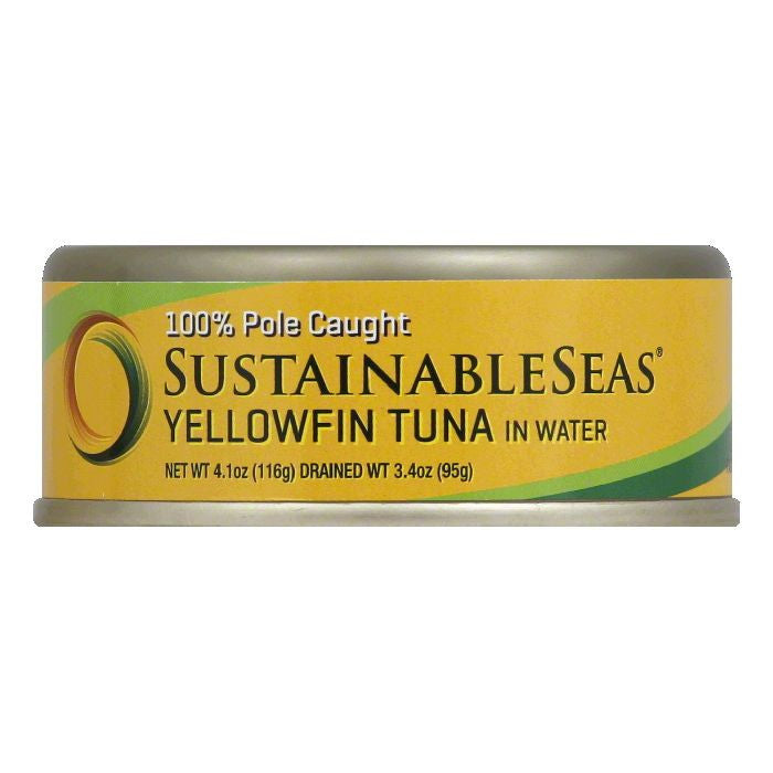 Sustainable Seas in Water Yellowfin Tuna, 4.1 Oz (Pack of 12)