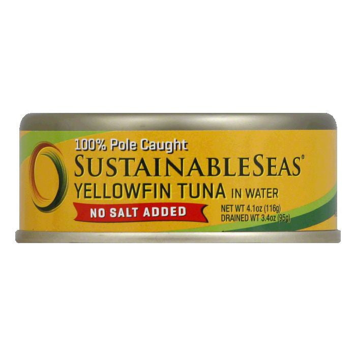 Sustainable Seas in Water No Salt Added Yellowfin Tuna, 4.1 Oz (Pack of 12)