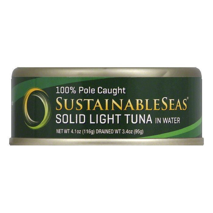 Sustainable Seas in Water Solid Light Tuna, 4.1 Oz (Pack of 12)