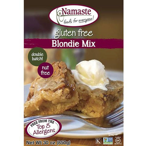 Namaste Foods Gluten Free Blondie Mix, 30 OZ (Pack of 6)