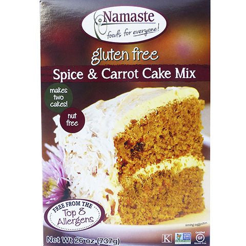 Namaste Foods Gluten Free Spice Cake Mix, 26 OZ (Pack of 6)