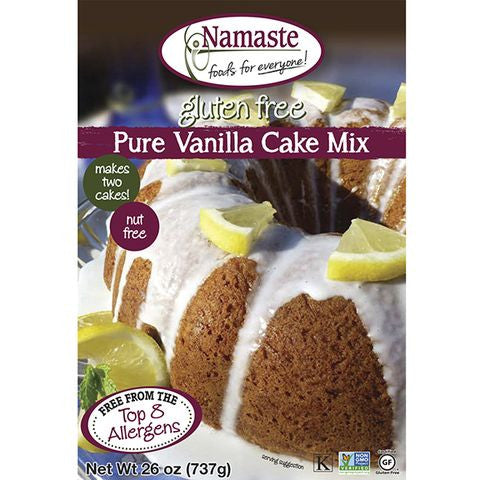 Namaste Foods Vanilla Gluten Free Cake Mix, 26 OZ (Pack of 6)