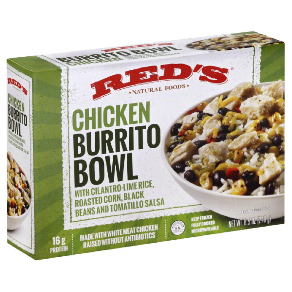 Reds Chicken Burrito Bowl, 8.5 Oz  ( Pack of  8)