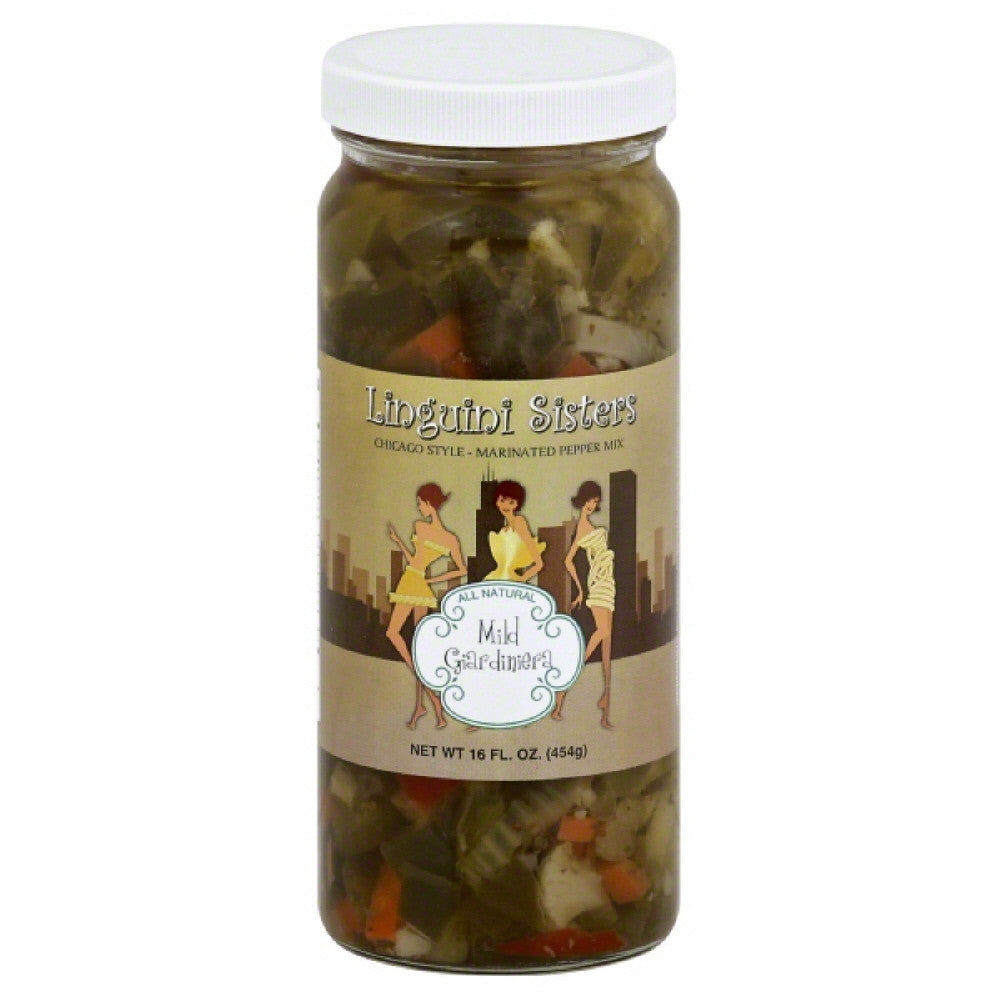 Linguini Sisters Mild Giardiniera, 16 Oz (Pack of 6)