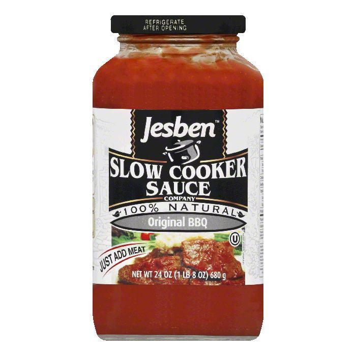Jesben Original BBQ Sauce, 24 Oz (Pack of 6)