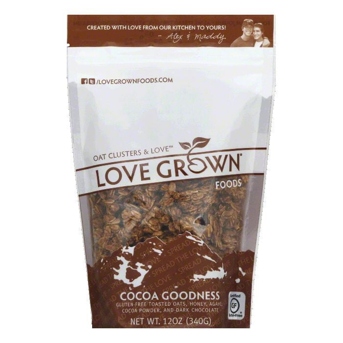 Love Grown Cocoa Goodness Toasted Oats, 12 Oz (Pack of 6)