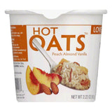 Love Grown Peach Almond Vanilla Hot Oats, 2.22 Oz (Pack of 8)