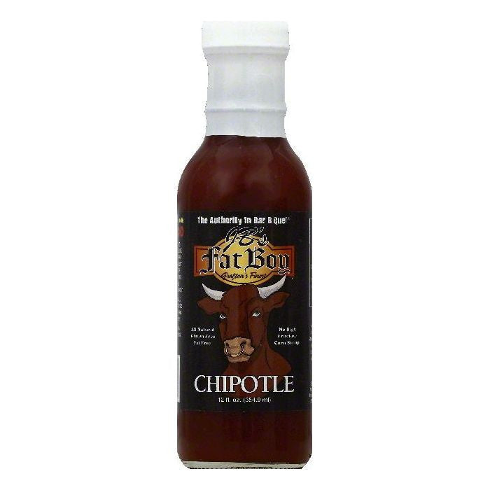 JBs Fat Boy Chipotle Bar B Que Sauce, 12 OZ (Pack of 12)