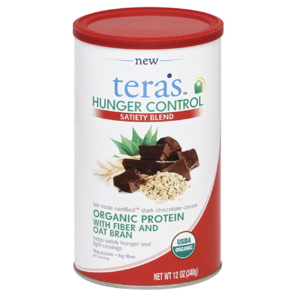 Teras Fair Trade Certified Dark Chocolate Cocoa Satiety Blend Organic Protein, 12 Oz