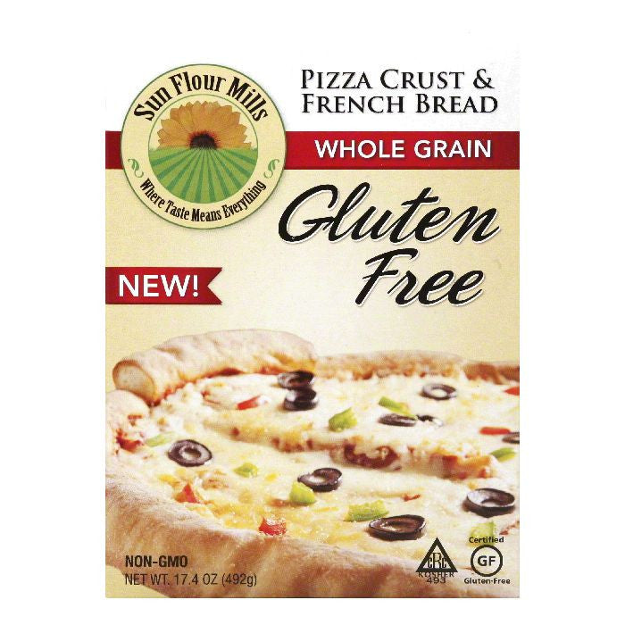 Sun Flour Mills Gluten Free Whole Grain Pizza Crust & French Bread, 17.4 Oz (Pack of 6)