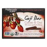 Righteously Raw Cacao & Goji Goji Bar, 2.3 OZ (Pack of 12)