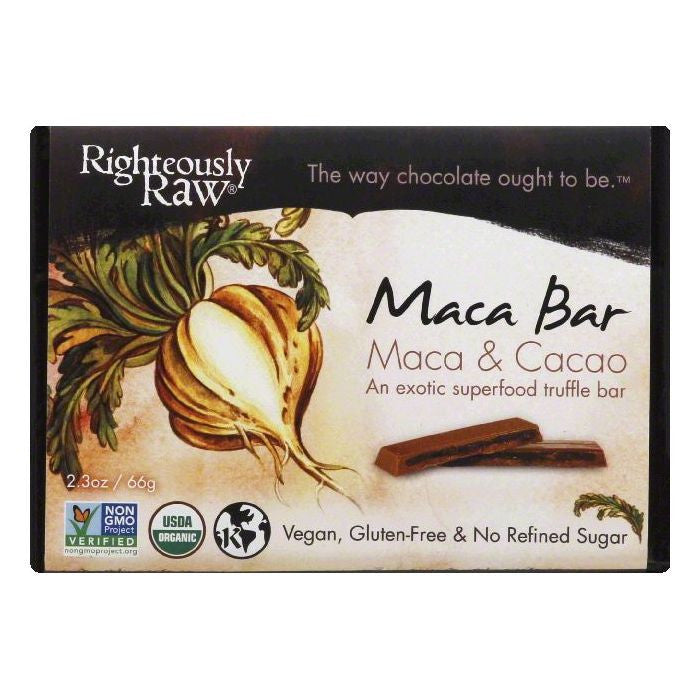 Righteously Raw Maca & Cacao Maca Bar, 2.3 OZ (Pack of 12)