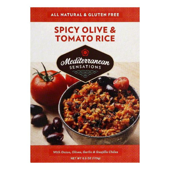 Mediterranean Sensations Spicy Olive & Tomato Rice Rice, 6 OZ (Pack of 12)