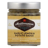 Mediterranean Sensations Garlic Lemon & Potato Sauce, 8.5 OZ (Pack of 6)