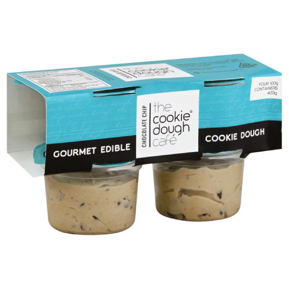 Cookie Dough Cafe Chocolate Chip Gourmet Edible Cookie Dough, 14 Oz (Pack of 8)