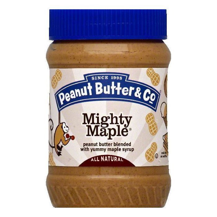 Peanut Butter & Co Mighty Maple Peanut Butter, 16 OZ (Pack of 6)