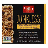Simply Eight Peanut Butter Chocolate Chip Junkless Chewy Granola Bars, 6 ea (Pack of 8)