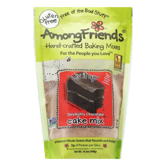 Among Friends Devilishly Chocolate Live It Up Cake Mix, 14.4 OZ (Pack of 6)