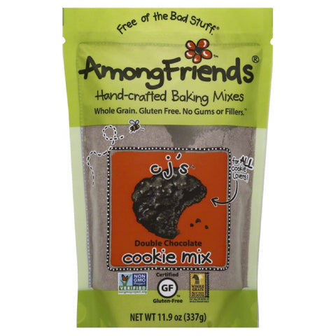 Among Friends CJ's Double Chocolate Cookie Mix, 11.9 Oz (Pack of 6)