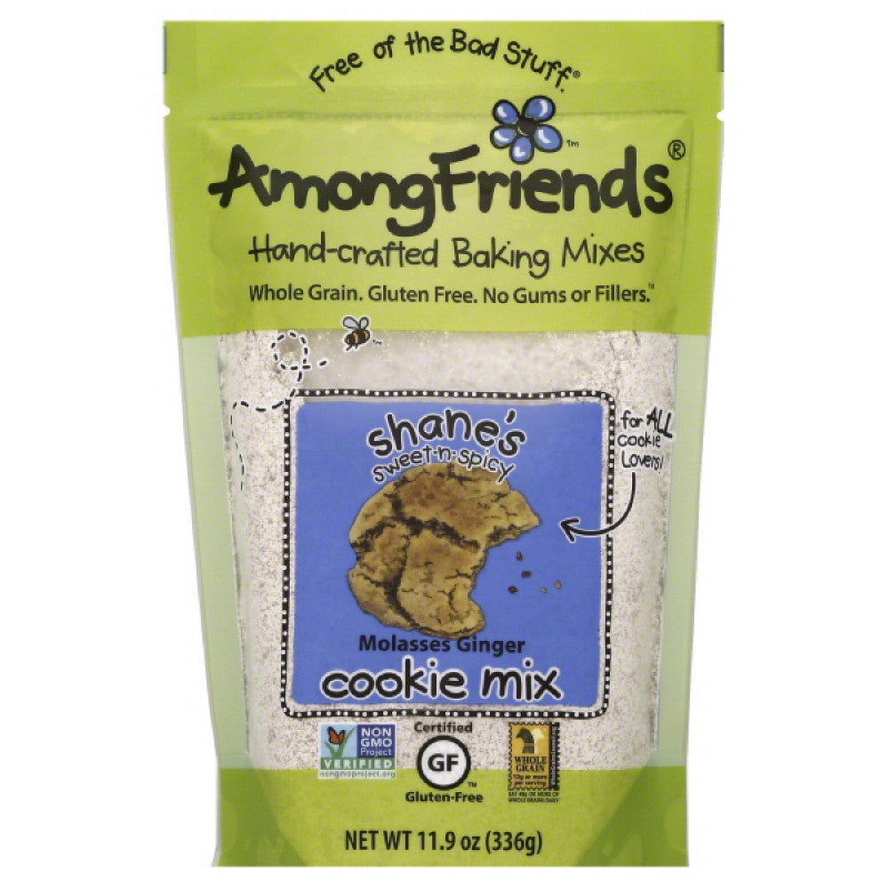 Among Friends Shane's Sweet-n-Spicy Molasses Ginger Cookie Mix, 11.9 Oz (Pack of 6)