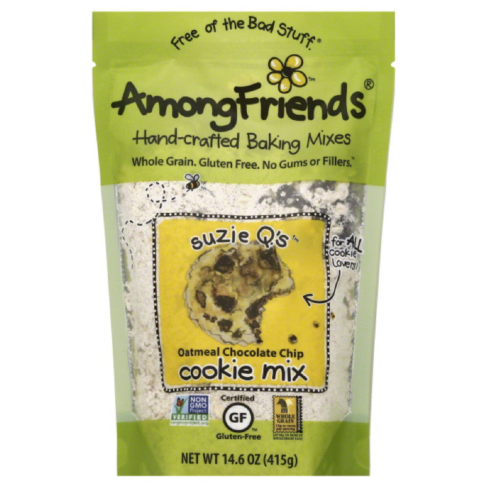 Among Friends Suzie Q.'s Oatmeal Chocolate Chip Cookie Mix, 14.6 Oz (Pack of 6)