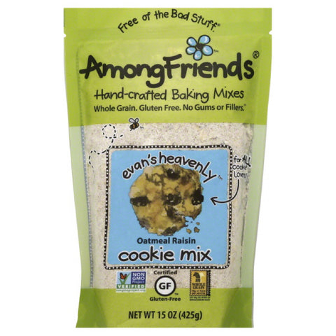 Among Friends Oatmeal Raisin Evan's Heavenly Cookie Mix, 15 Oz (Pack of 6)