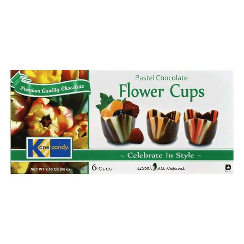 Kane Candy Pastel Chocolate Flower Cups, 6 ea (Pack of 12)