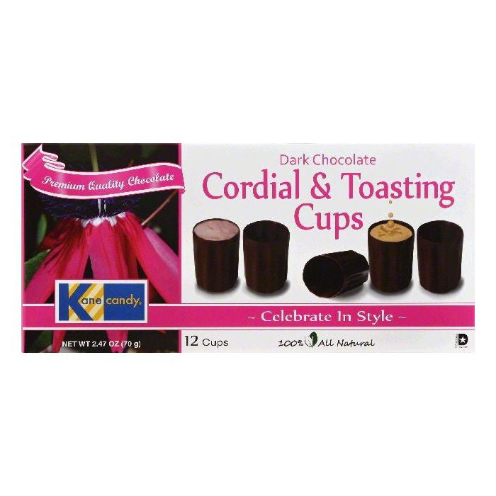 Kane Candy Dark Chocolate Cordial & Toasting Cups, 12 ea (Pack of 12)