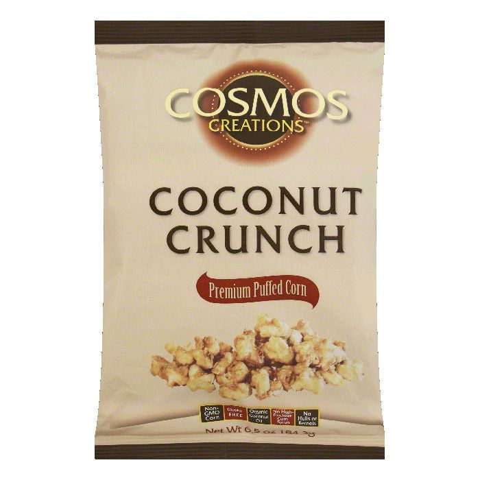 Cosmos Creations Coconut Crunch Puffed Corn, 6.5 OZ (Pack of 12)
