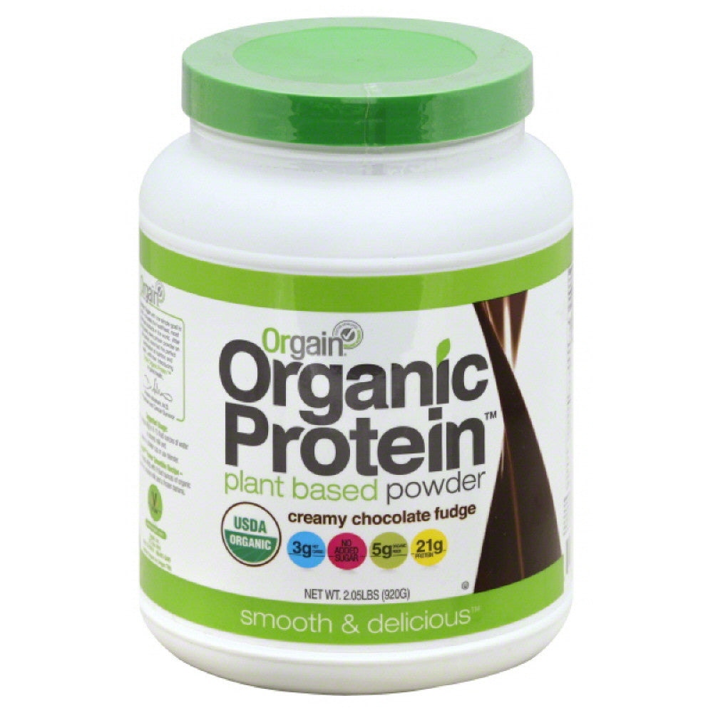 Orgain Creamy Chocolate Fudge Plant Based Protein Powder, 2.03 Lb