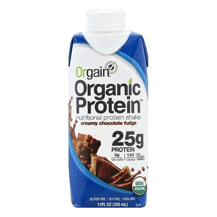 Orgain Creamy Chocolate Fudge Protein Nutritional Shake, 11 OZ (Pack of 12)