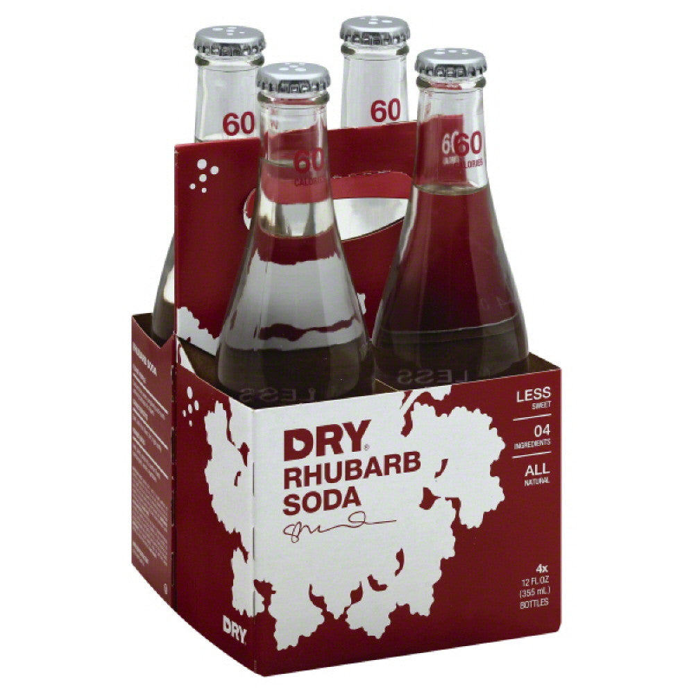 Dry Rhubarb Soda, 12 Fo (Pack of 6)