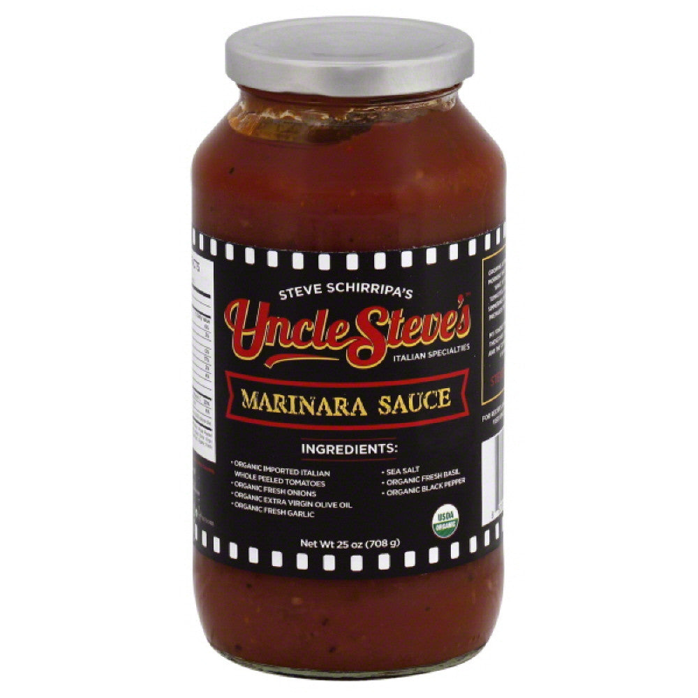 Uncle Steves Marinara Sauce, 25 Oz (Pack of 6)