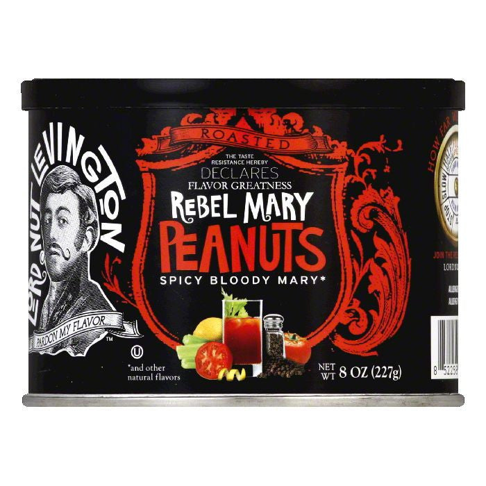 Lord Nut Levington Pnuts hghly ssnd rebel mary, 8 OZ (Pack of 6)