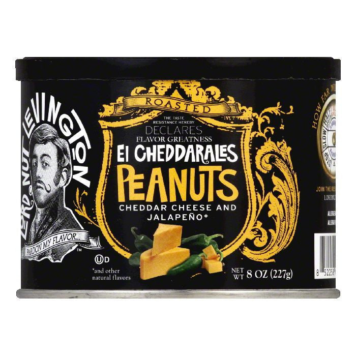 Lord Nut Levington Pnuts hghly ssnd el cheddarale, 8 OZ (Pack of 6)