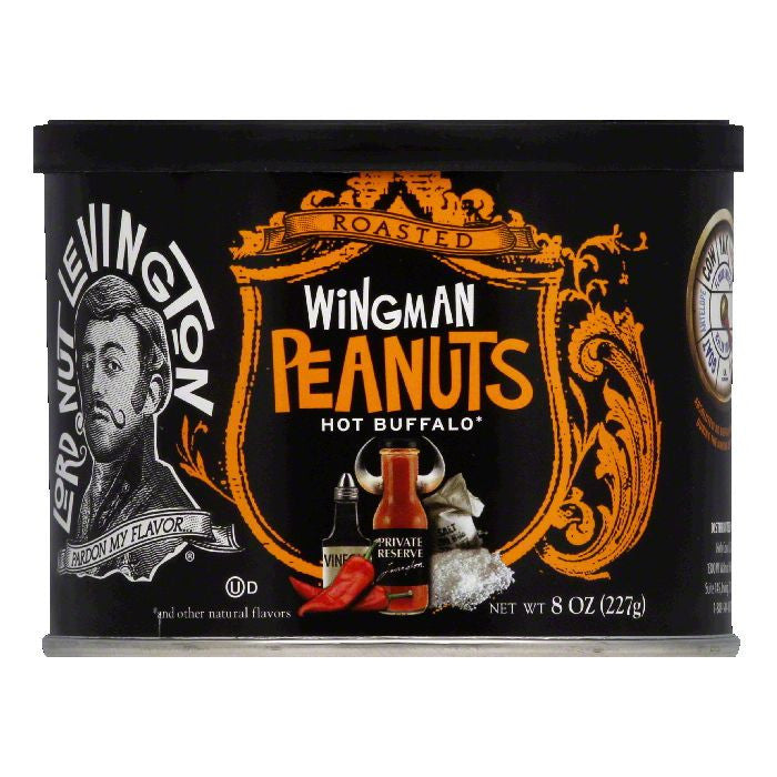 Lord Nut Levington Wingman Hot Buffalo Roasted Peanuts, 8 Oz (Pack of 6)