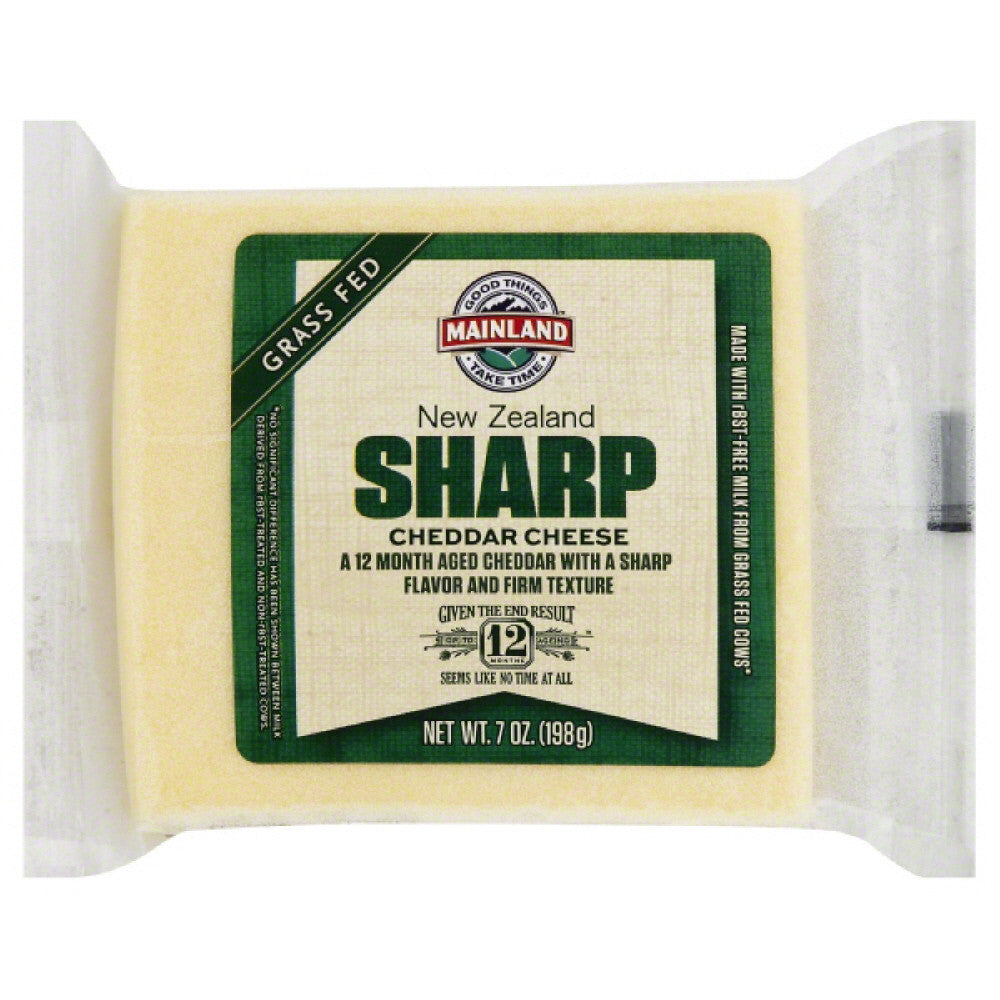 Mainland Sharp Cheddar Cheese, 7 Oz (Pack of 12)