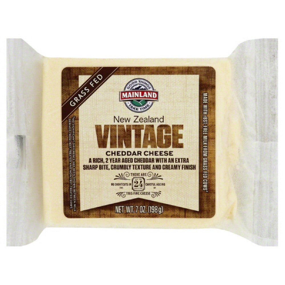 Mainland Cheddar Vintage Cheese, 7 Oz (Pack of 12)