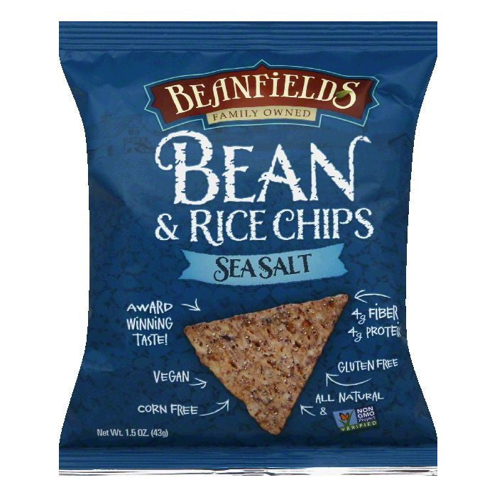 Beanfields Sea Salt Bean & Rice Chips, 1.5 Oz (Pack of 24)
