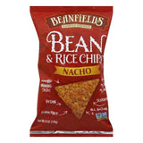 Beanfields Nacho Bean and Rice Chips, 6 Oz (Pack of 12)