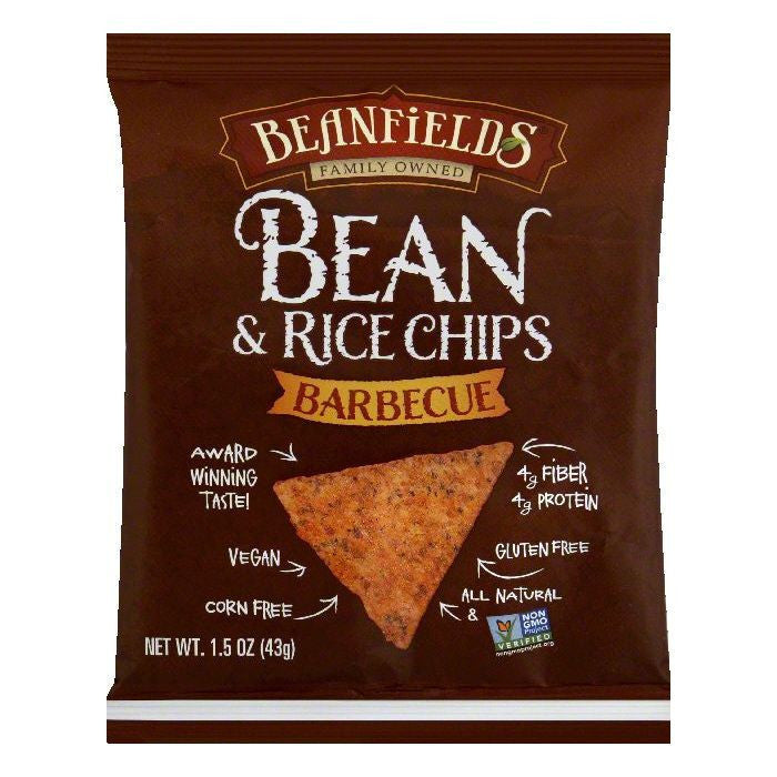 Beanfields Barbecue Bean & Rice Chips, 1.5 OZ (Pack of 24)