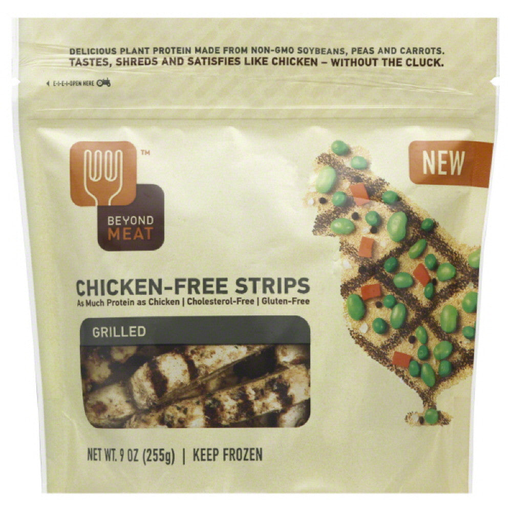 Beyond Meat Grilled Chicken-Free Strips, 9 Oz (Pack of 6)