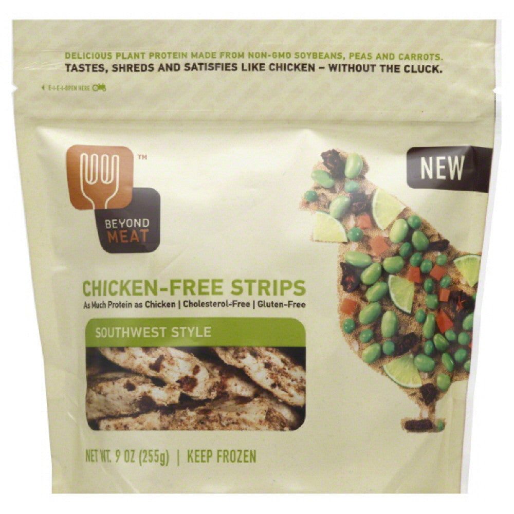Beyond Meat Southwest Style Chicken-Free Strips, 9 Oz (Pack of 6)