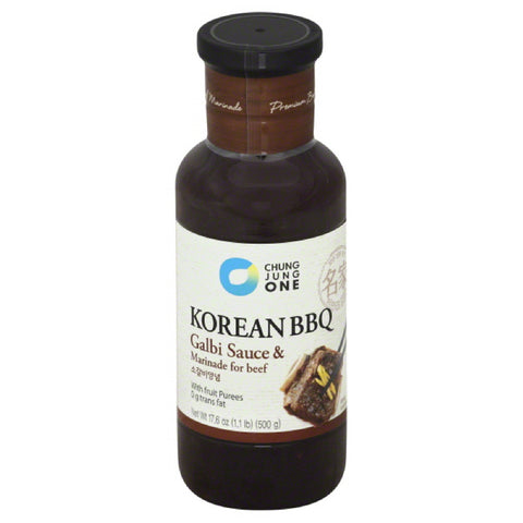 Chung Jung One Galbi Sauce & Marinade for Beef, 17.6 Oz (Pack of 6)