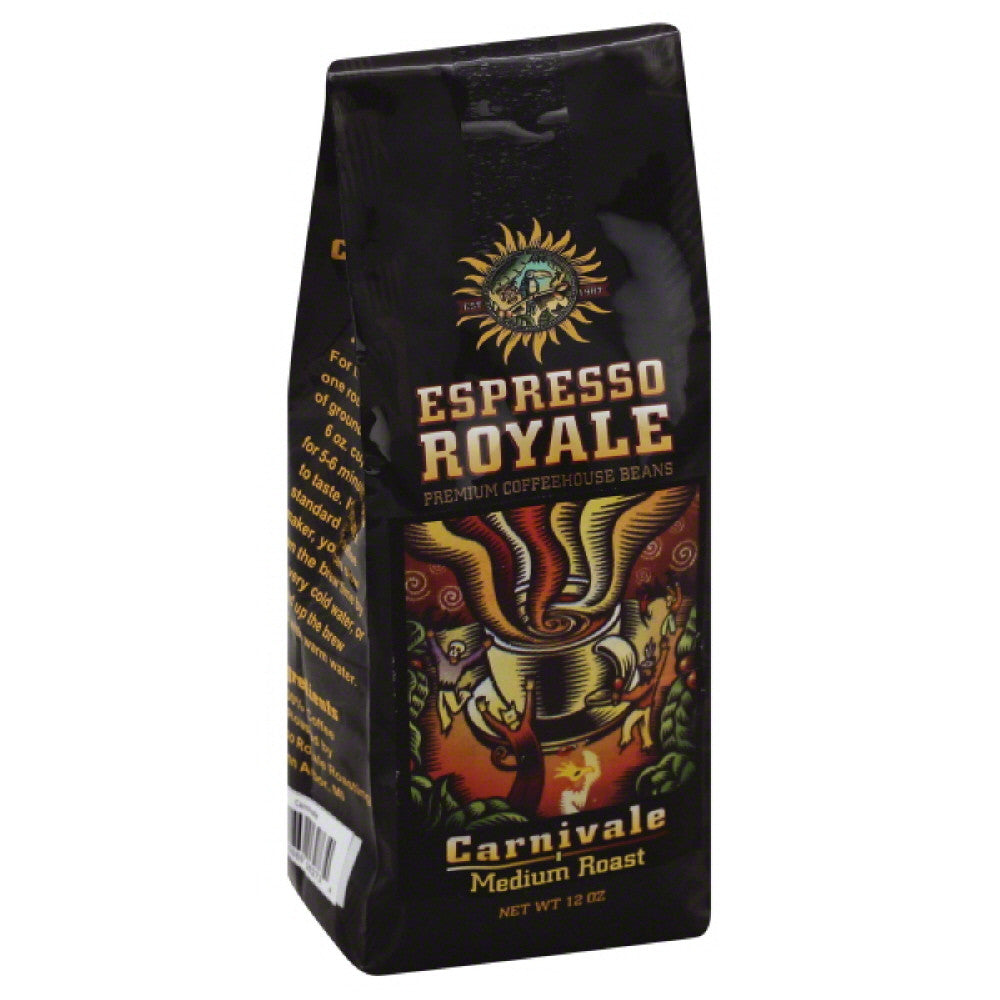 Espresso Royale Carnivale Medium Roast Coffee, 12 Oz (Pack of 6)