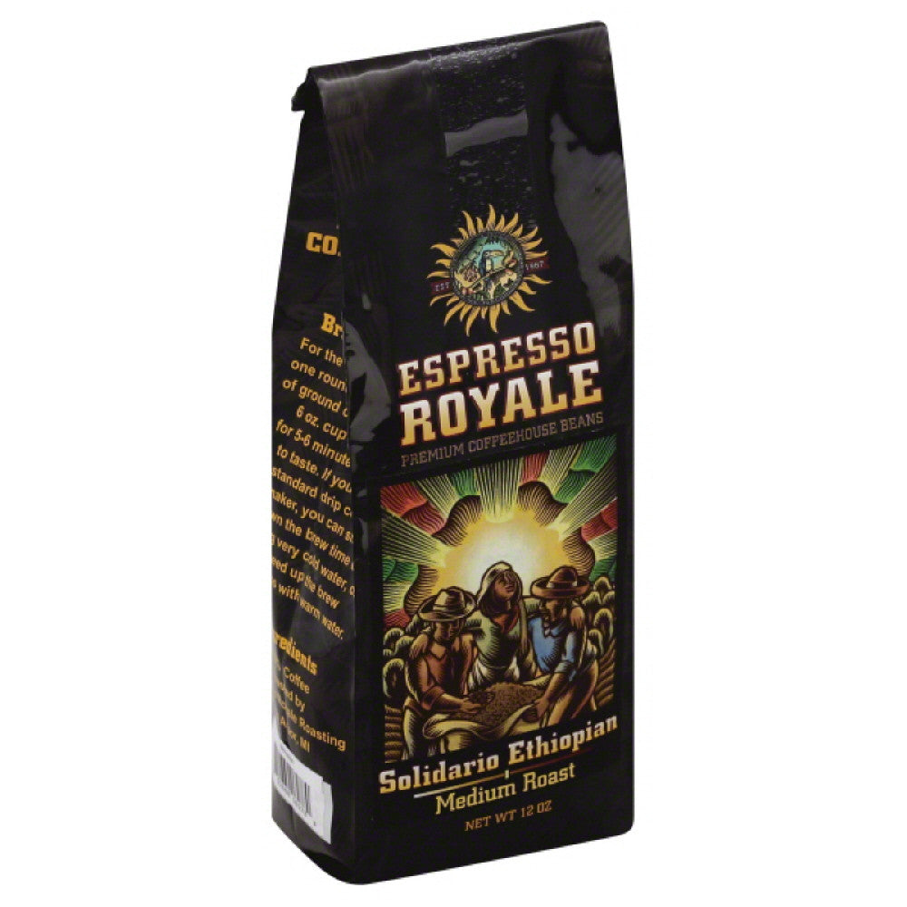 Espresso Royale Solidario Ethiopian Medium Roast Coffee, 12 Oz (Pack of 6)