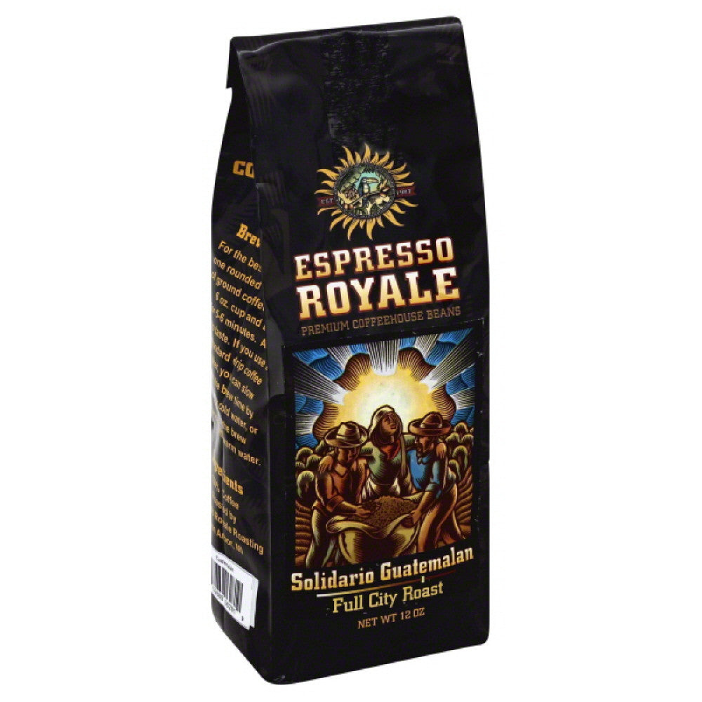 Espresso Royale Solidario Guatemalan Full City Roast Coffee, 12 Oz (Pack of 6)