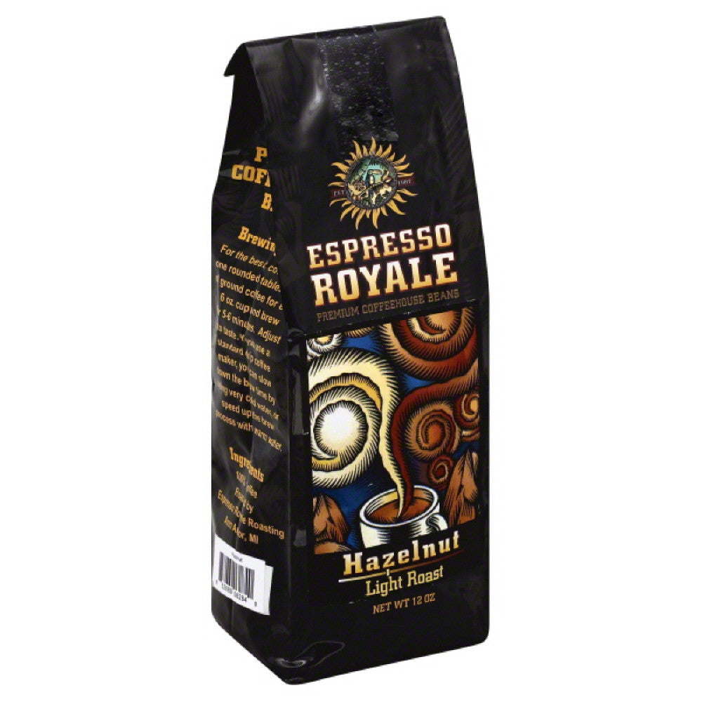 Espresso Royale Hazelnut Light Roast Coffee, 12 Oz (Pack of 6)