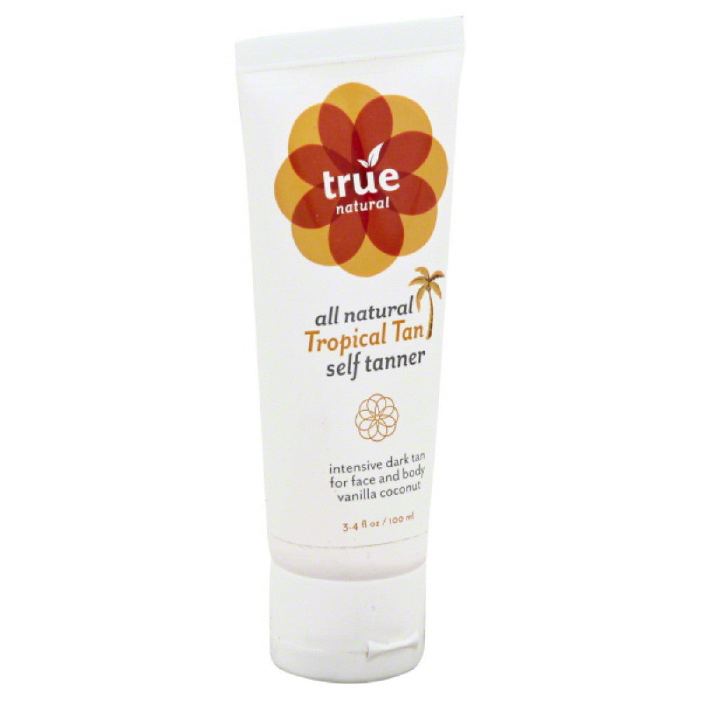 TRUE Vanilla Coconut Tropical Tan Self Tanner, 4 Fo