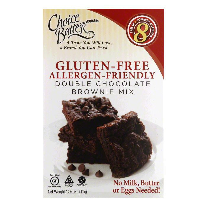 Choice Batter Double Chocolate Brownie Mix, 14.5 OZ (Pack of 6)